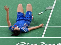 女单半决赛:李雪芮0-2不敌西班牙选手马琳