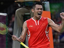 羽毛球——林丹晋级男单半决赛