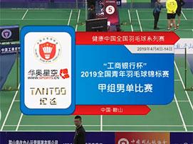 2019全国青年羽毛球锦标赛甲组男单比赛