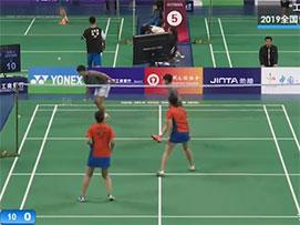 2019全国青年羽毛球锦标赛甲组女双第二场