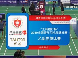 2019全国青年羽毛球锦标赛乙组男单第八场