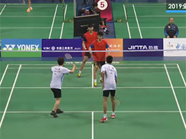 2019全国青年羽毛球锦标赛乙组男双8进4