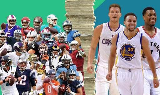 新秀而论,NFL与NBA谁赚的多?