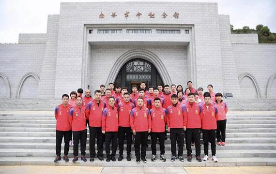 """中国乒乓球队展开""""祖国在我心中""""爱国主义教育活动"""
