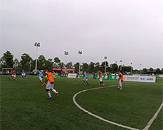 湖报集团两支代表队参加首届全国体育新闻工作者足球赛