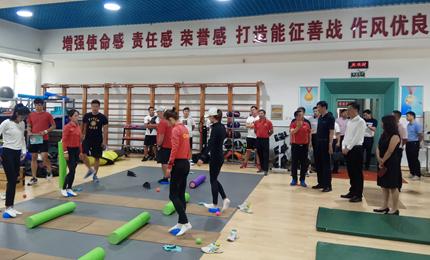 國家體育總局副局長高志丹看望備戰中的競走隊