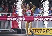 梁瑞夺女子50公里竞走冠军