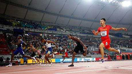 第七名!谢震业获**500万彩票网站手机版3g选手田径世锦赛男子200米最好成绩
