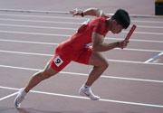 中国男队4X100米获东京奥运