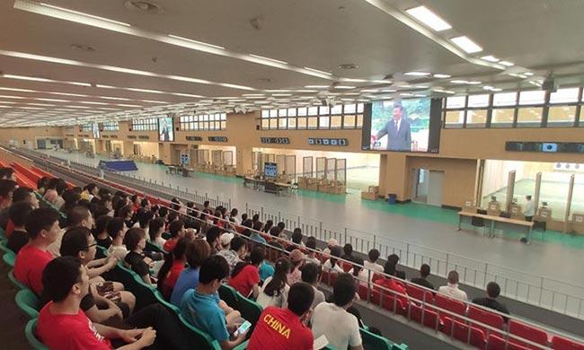 国家射击队组织全队学习习近平总书记对中国女排的重要指示精神