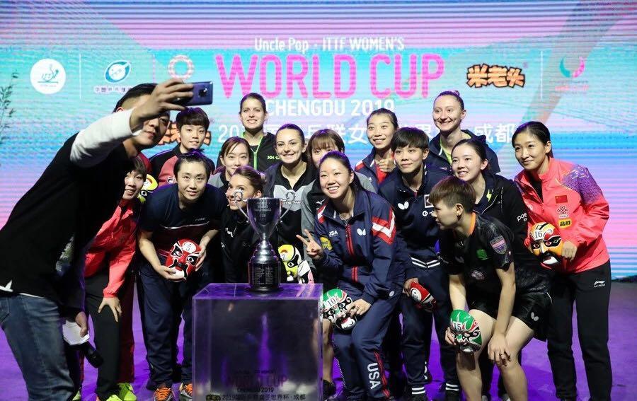 女乒世界杯开战  淘汰赛朱雨玲刘诗雯阵守上下半区