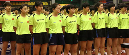 2019年全国青少年乒乓球训练营女队8-8平关键球赛战罢 张翔宇再获第一
