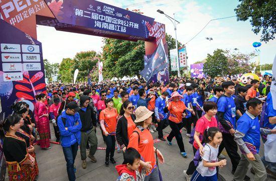 2019中国定向公开赛在海南昌江举办