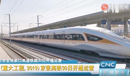 京张高铁30日正式开通运营 助力北京冬奥会