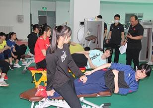 国家跆拳道队进行体能测试备战奥运会