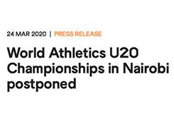 世界田聯:尤金田徑世錦賽或將推遲至2022年舉行