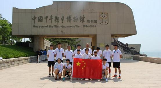 国家铁人三项队登刘公岛开展爱国主义教育活动