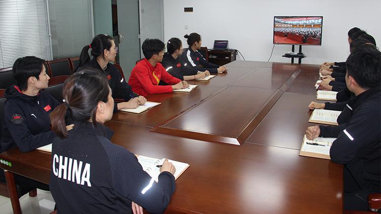 国家跆拳道队、空手道队观看全国抗击新冠肺炎疫情表彰大会