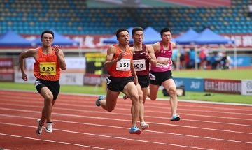 2020年全国田径锦标赛:男子十项全能100米