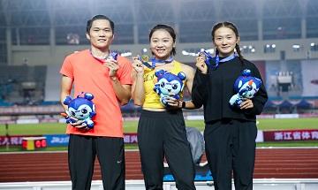 2020年全国田径锦标赛:女子100米决赛 葛曼棋11秒35夺冠