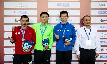 2020年全国田径锦标赛:男子跳远决赛 王嘉男夺冠