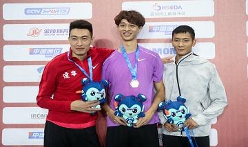 2020年全国田径锦标赛:男子三级跳远决赛 吴瑞庭夺冠