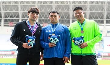 2020年全国田径锦标赛:男子铁饼决赛 孙世晨夺冠
