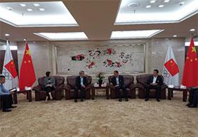 中国田径协会秘书长于洪臣与澳门体育局局长会谈