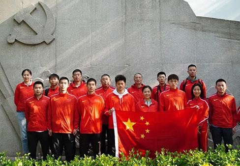 中国国家田径队各地有序开展主题党日活动