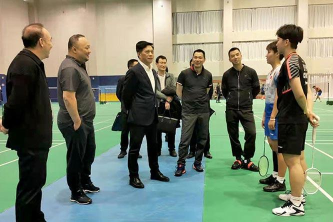 李建明副局长赴海南陵水看望国家羽毛球队