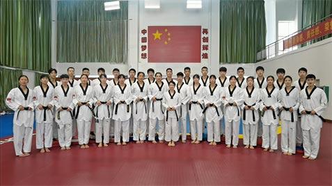 中国跆拳道队给祖国和全国人民拜年