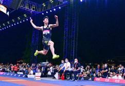 中国田径街头巡回赛成都站 黄常洲加冕跳远四冠王