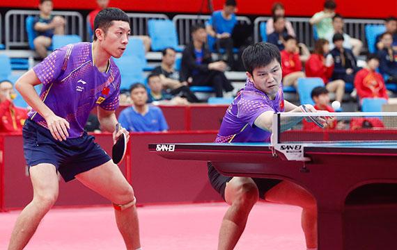 国乒热身赛团体收官 男女一团双双问鼎
