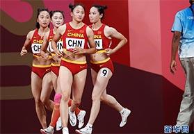 4X100米接力中国女队创历史最佳