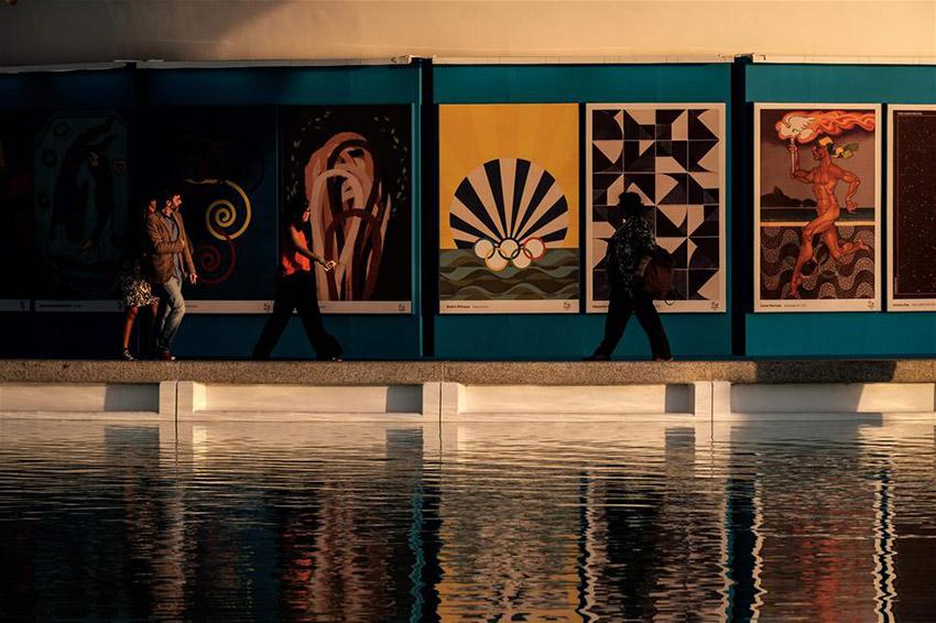 里约奥运会官方海报在里约热内卢明天博物馆正式发布。