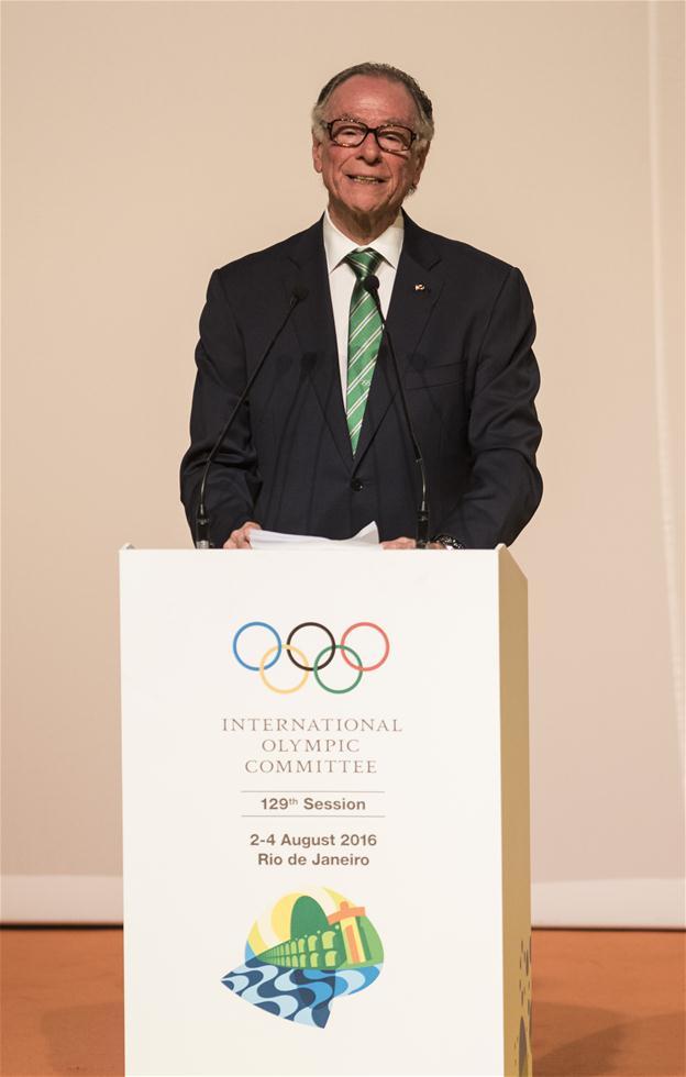 里约奥组委主席努兹曼在开幕式上致辞。