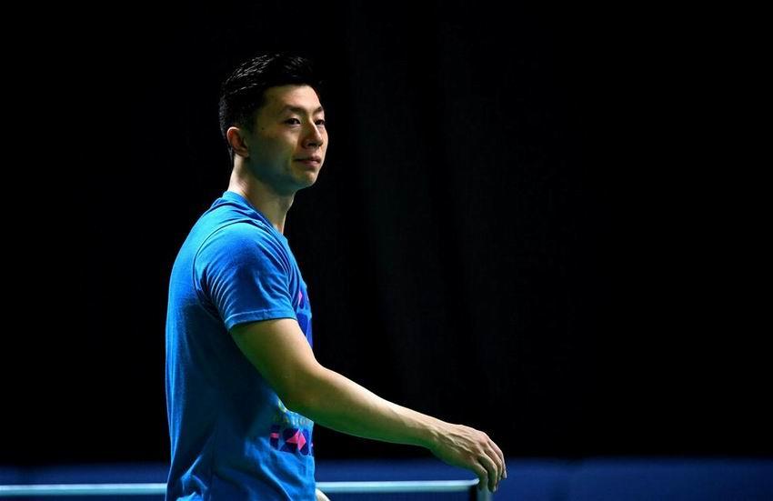 8月4日,中国乒乓球队选手马龙在训练中。