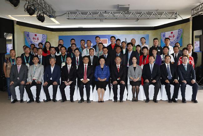 刘延东看望报道里约奥运会的中方媒体代表