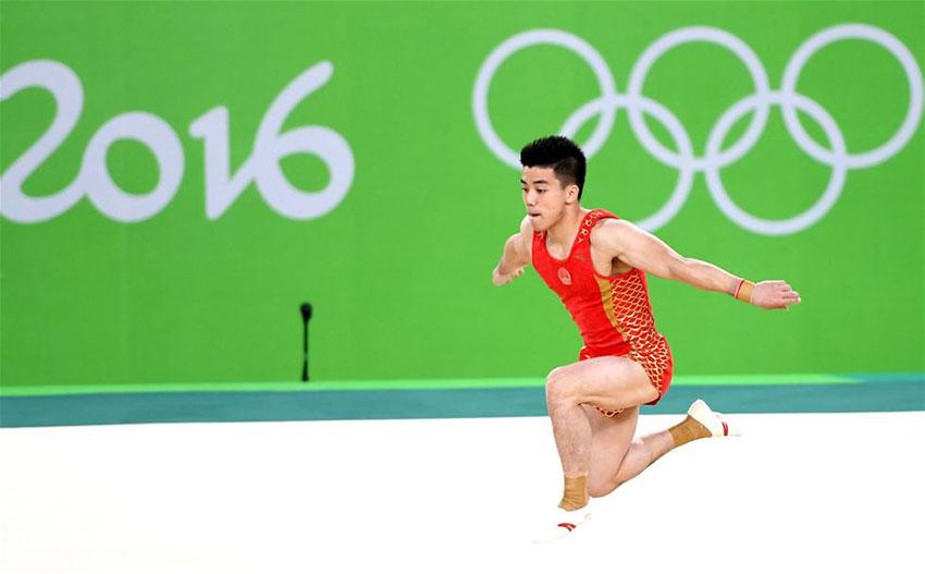 中国队选手林超攀在自由操决赛中