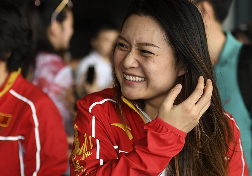 郭文珺抵达北京首都国际机场