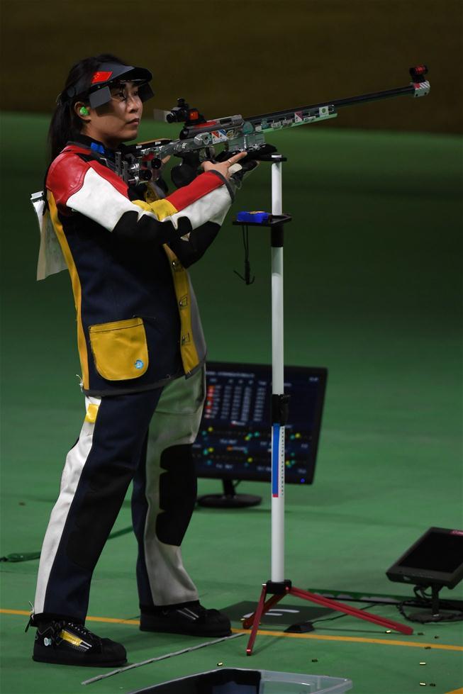 张彬彬在比赛中。新华社记者韩瑜庆摄