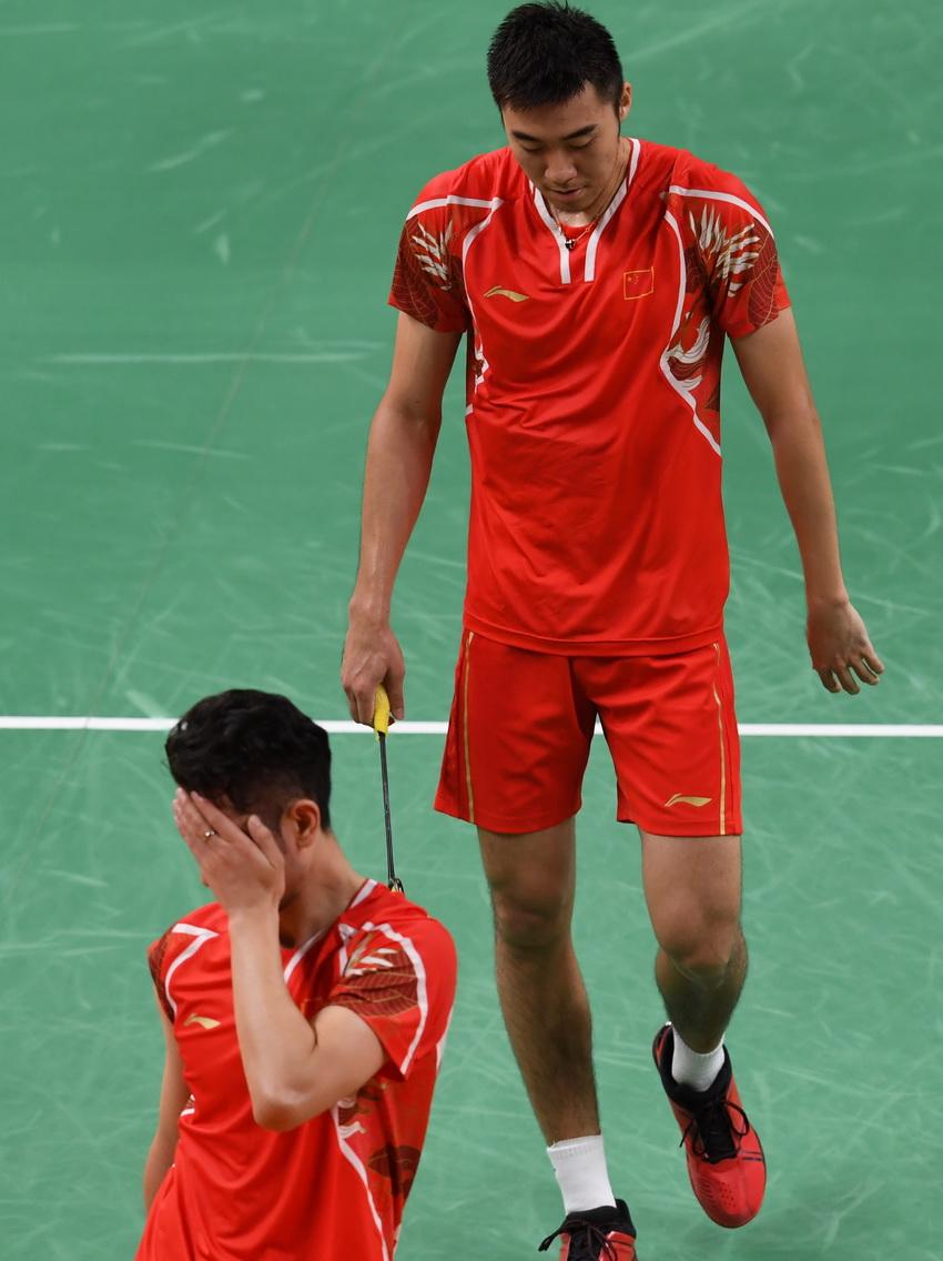 中国选手柴飚/洪炜在比赛中