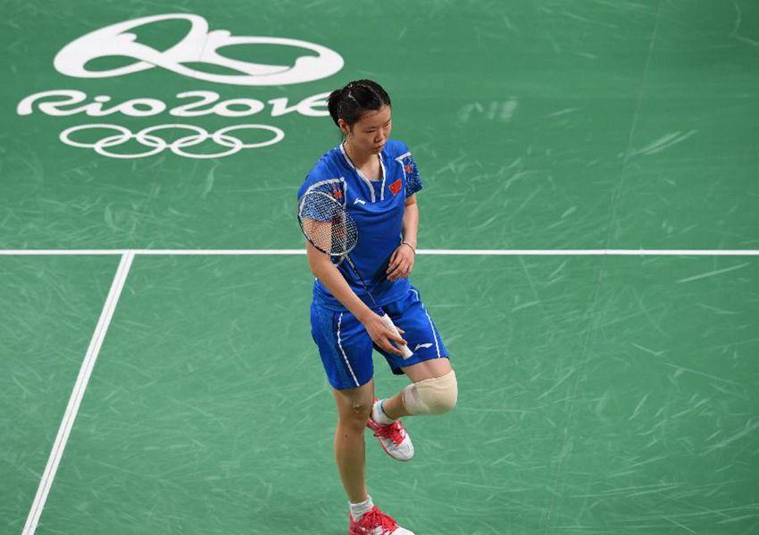 中国选手李雪芮在比赛中
