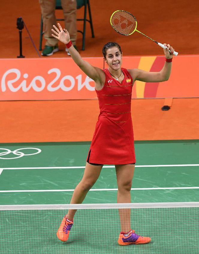 西班牙选手马琳在获胜后庆祝