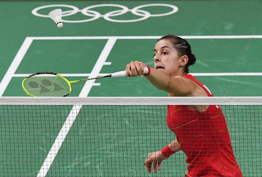 西班牙选手马琳在比赛中