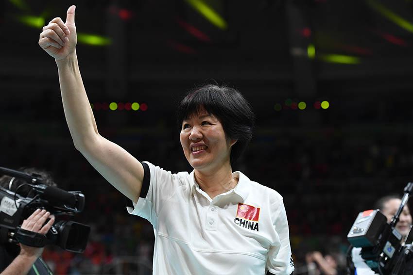 中国队主教练郎平在赛后