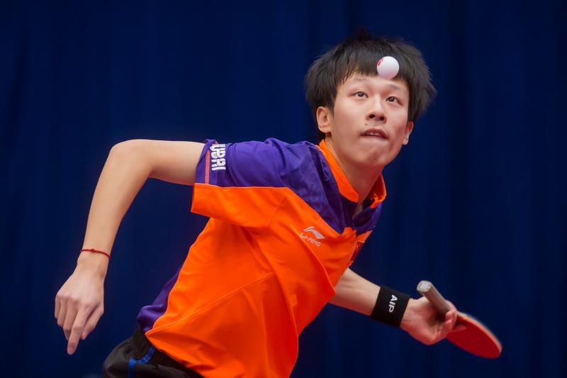 1月19日,中国选手林高远在男单首轮比赛中。最终,林高远以4比0战胜德国选手杜达,顺利晋级