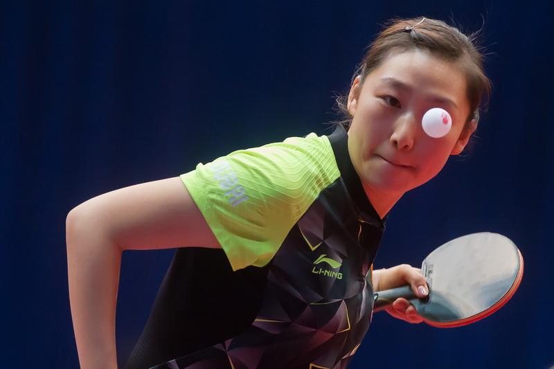 1月20日,在匈牙利首都布达佩斯举行的2017国际乒联世界巡回赛匈牙利公开赛女单八分之一决赛中,中国选手文佳以4比1战胜队友盛丹丹。
