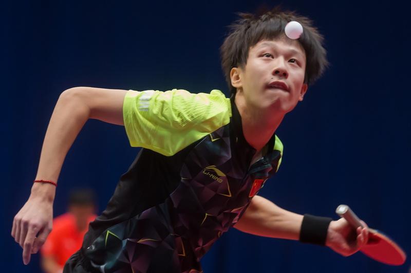 1月20日,在匈牙利首都布达佩斯举行的2017国际乒联世界巡回赛匈牙利公开赛男单八分之一决赛中,中国选手林高远以4比1战胜法国选手高兹。