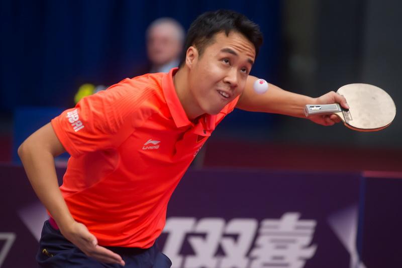 1月20日,在匈牙利首都布达佩斯举行的2017国际乒联世界巡回赛匈牙利公开赛男单八分之一决赛中,中国选手尚坤以4比0战胜队友周雨。